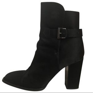 Chanel rare vintage 90's satin heeled booties, 10